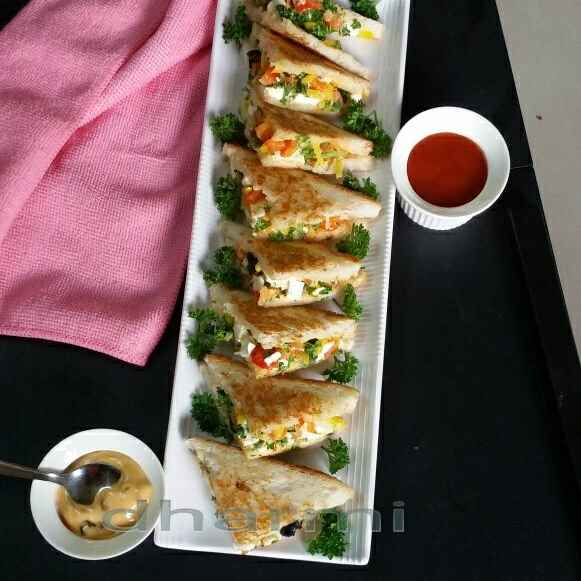 Photo of Paneer parsley sandwich by Dharmistha Kholiya at BetterButter