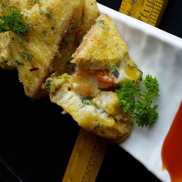 Photo of Pizza pakoda by Dharmistha Kholiya at BetterButter