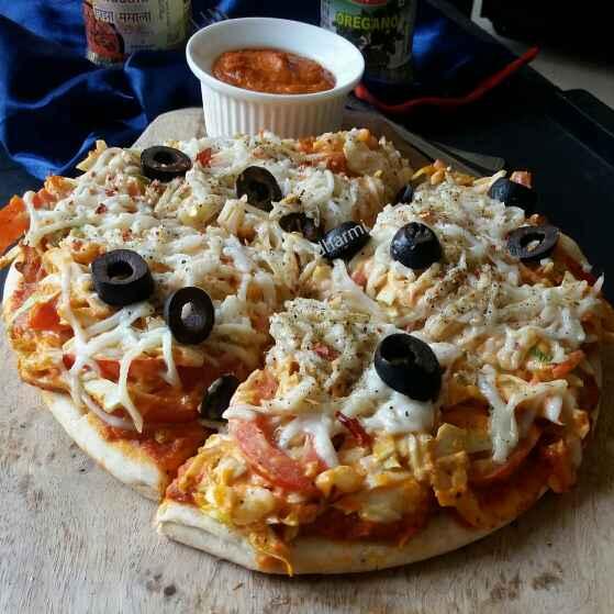 How to make Mayo veggie pizza