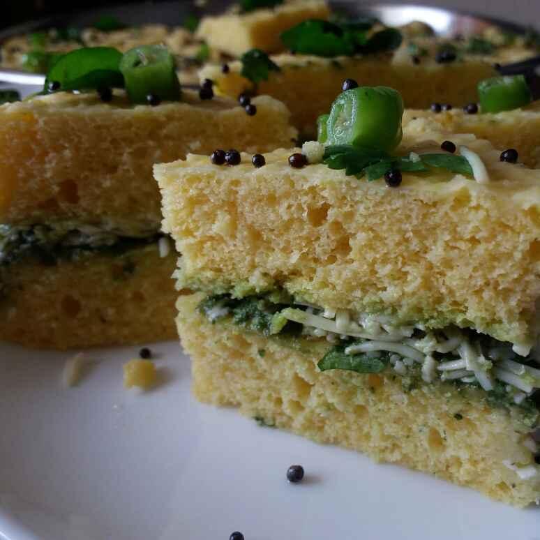 Photo of Sandwich dhokla by Dharmistha Kholiya at BetterButter