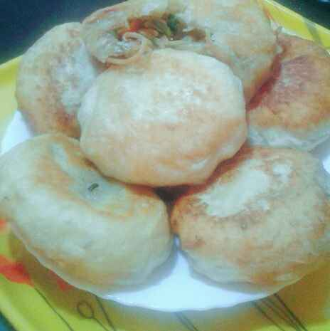 Photo of Hotteok filled with vegetables & noodles by Dipa Bhattacharyya at BetterButter