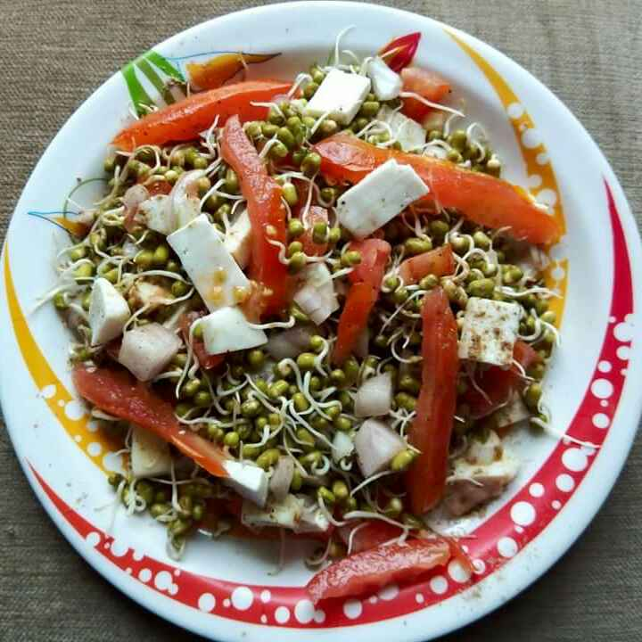 How to make Sprouts and paneer salads