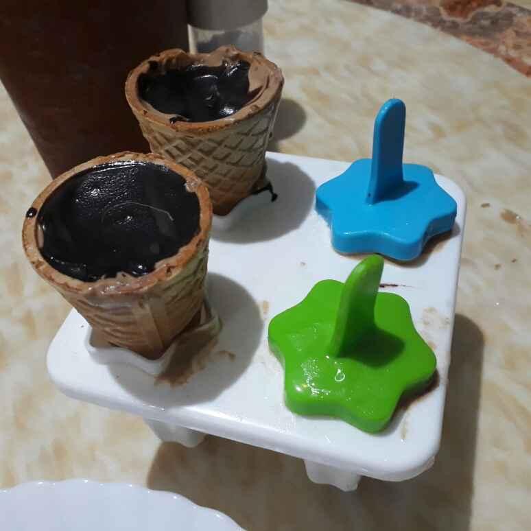 How to make Choco vanilla Tutifruity  ice cream bar
