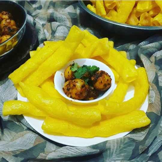 How to make Bhungla bataka
