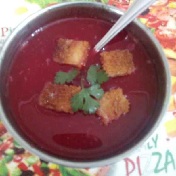 Photo of Thick tomato soup by Dipti Mehrotra at BetterButter