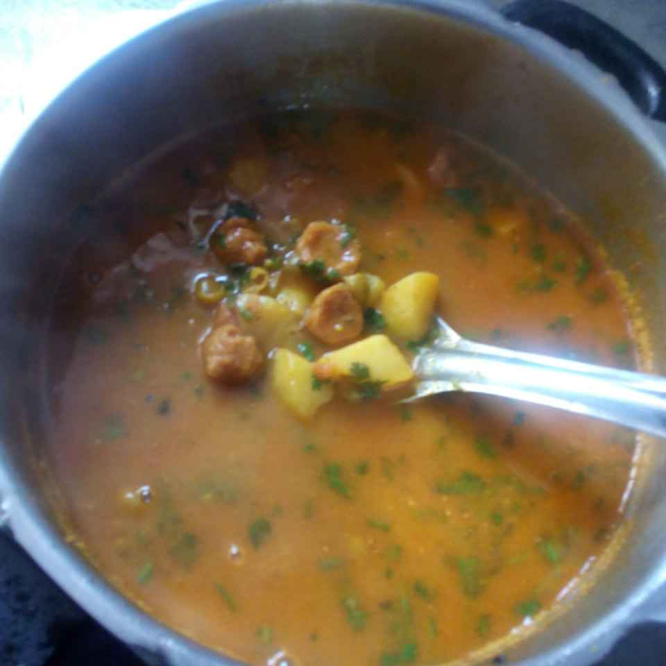 Photo of Mangodi-aalu ki gravy by Dipti Mehrotra at BetterButter