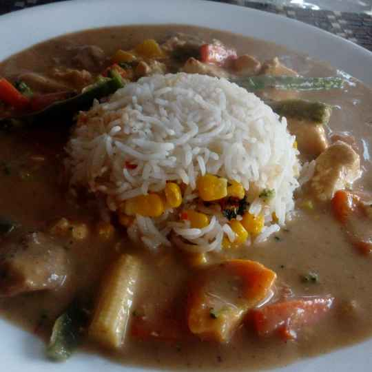 Photo of Thai red curry with corn rice by Disha Chavda at BetterButter