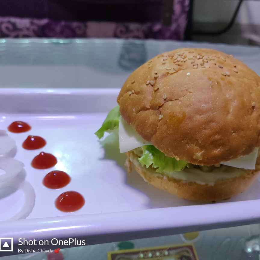 Photo of Veg. Burger by Disha Chavda at BetterButter
