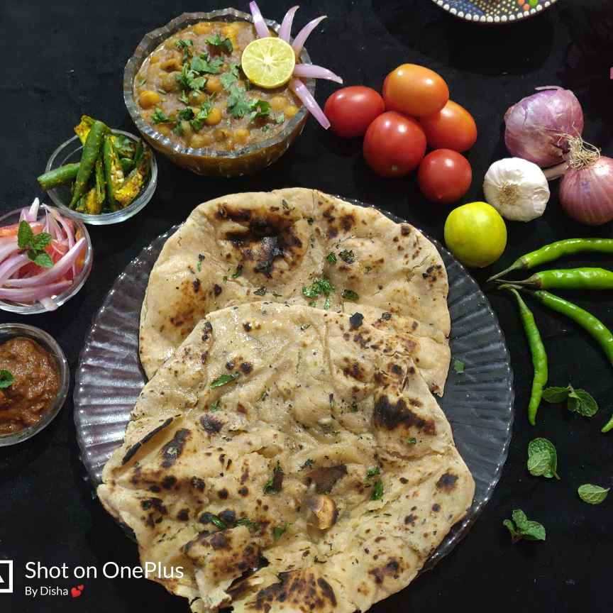 Photo of Mutter and wheat pudina kulcha by Disha Chavda at BetterButter