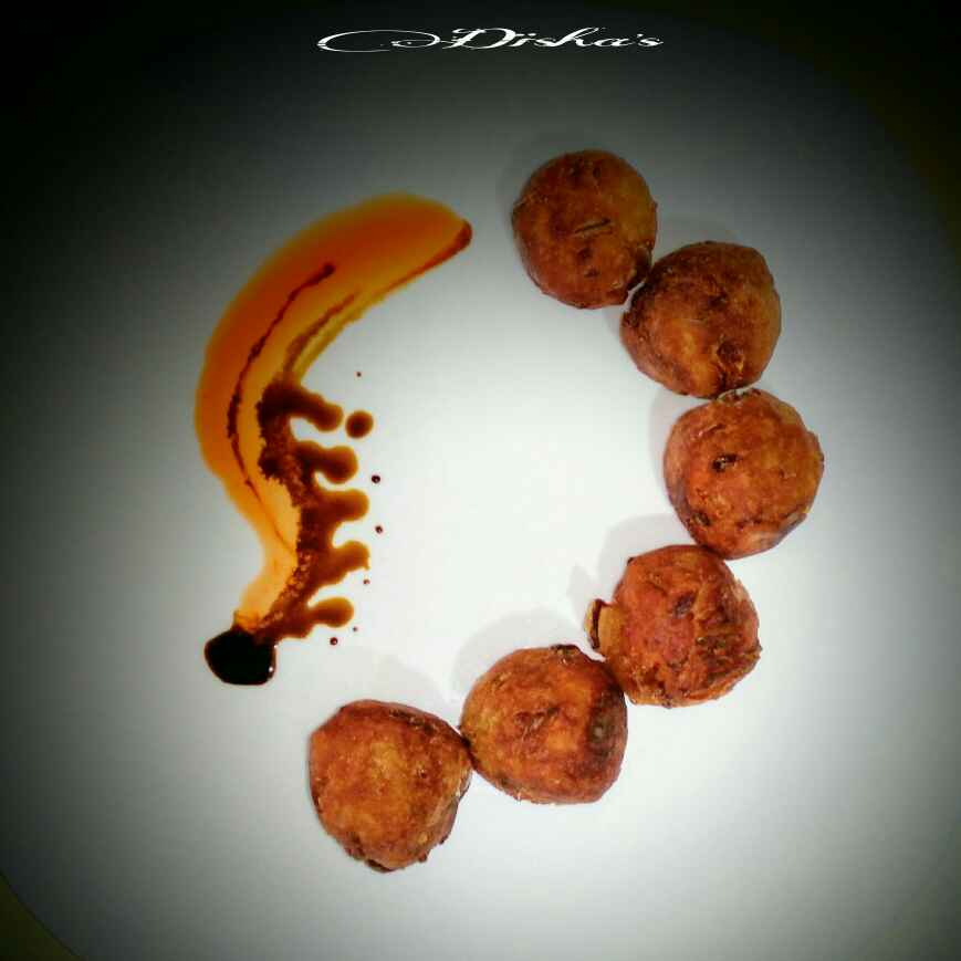 Photo of Cheese stuffed taro fritters by Disha D'Souza at BetterButter