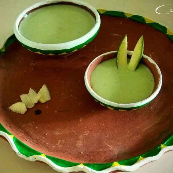 How to make Green mango lassi