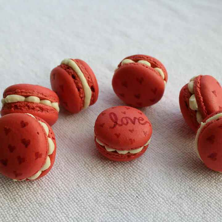 How to make Eggless raspberry rose macaron (aquafaba)