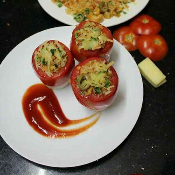 Photo of Italian stuffed baked tomato by Divya Jain at BetterButter