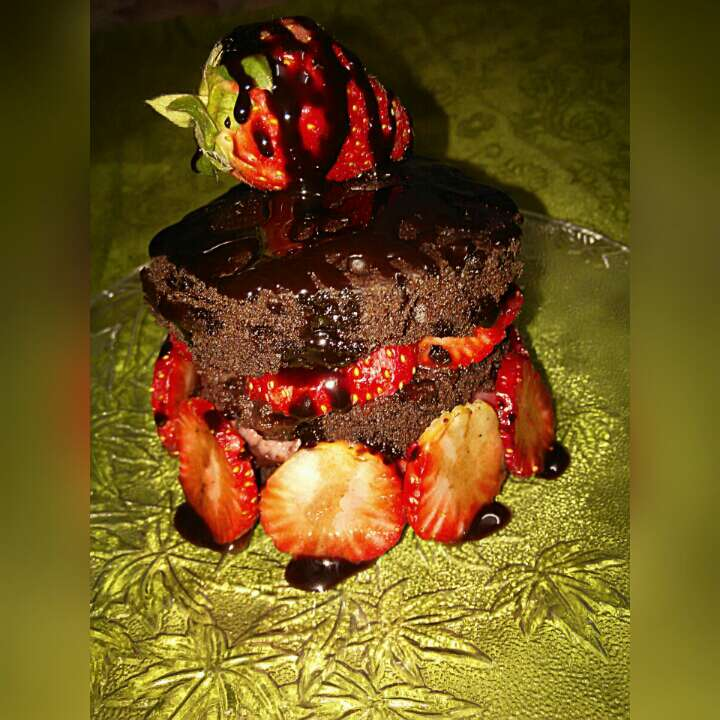 How to make Choco Strawberry Mug Cake