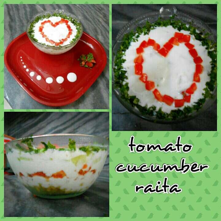 Photo of Cucumber tomato raita by Divya Gupta at BetterButter