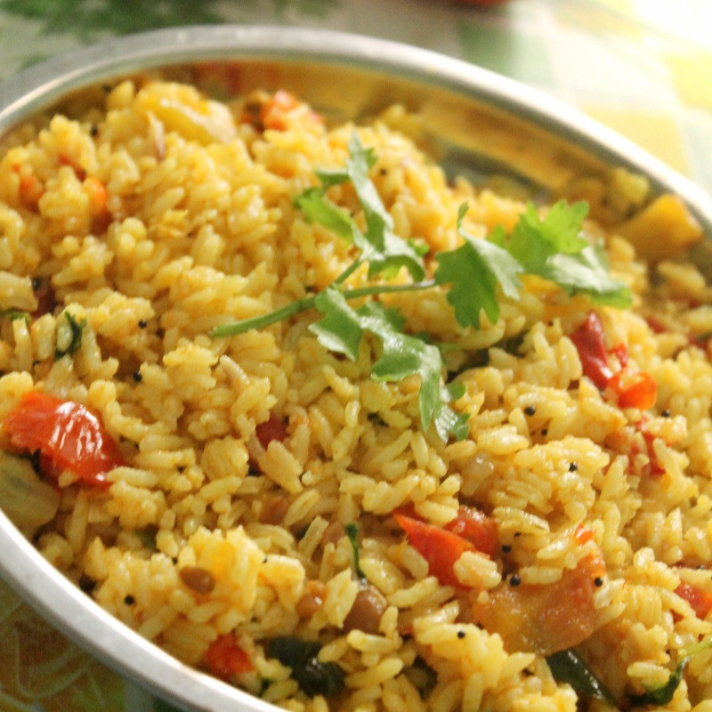 How to make Tangy - Tomato Rice