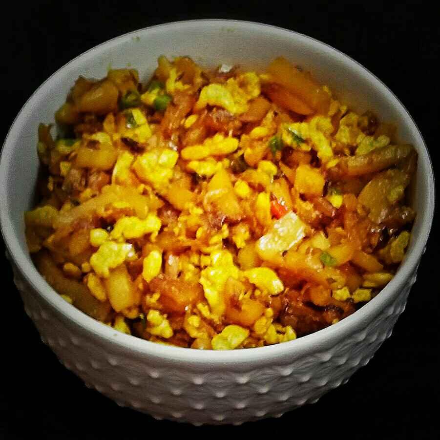 Photo of Egg potato fry by DrAmita Debnath Das at BetterButter