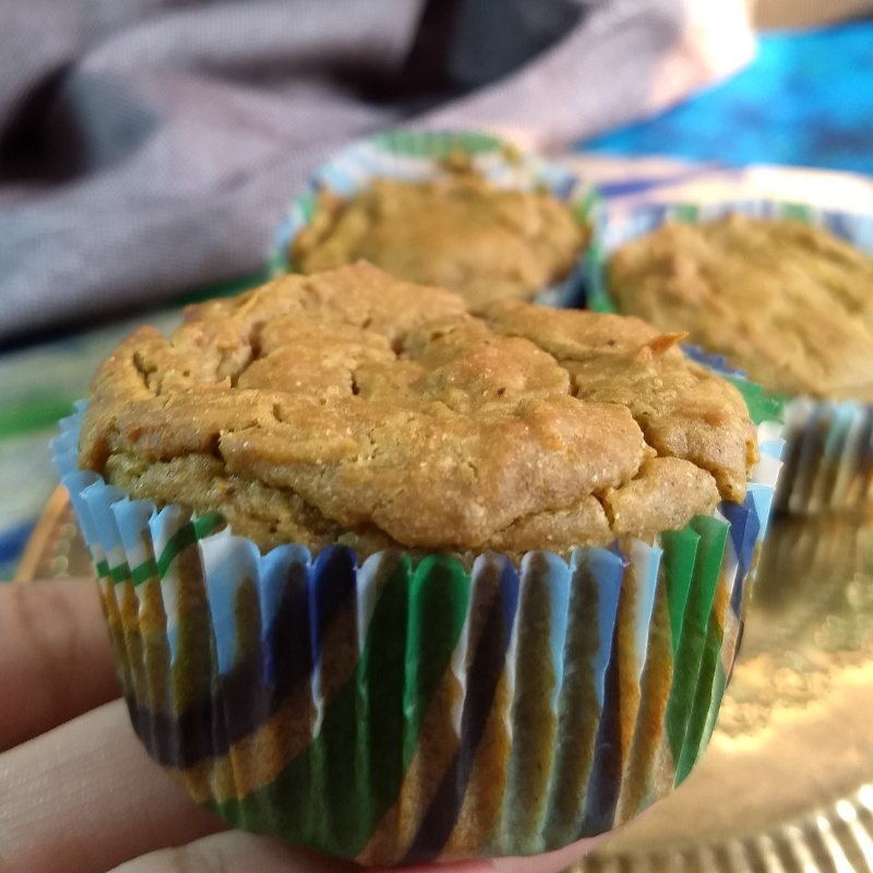 How to make Savory Pearl Millet Flour and Carrot Muffins (Bajra Flour Muffins)