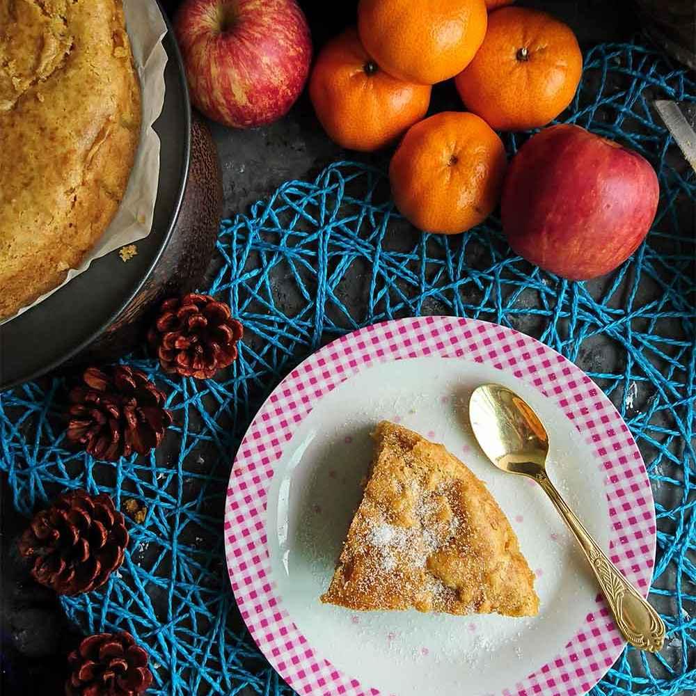 Photo of Eggless Wheat Apple Cake by Drashti Dholakia at BetterButter