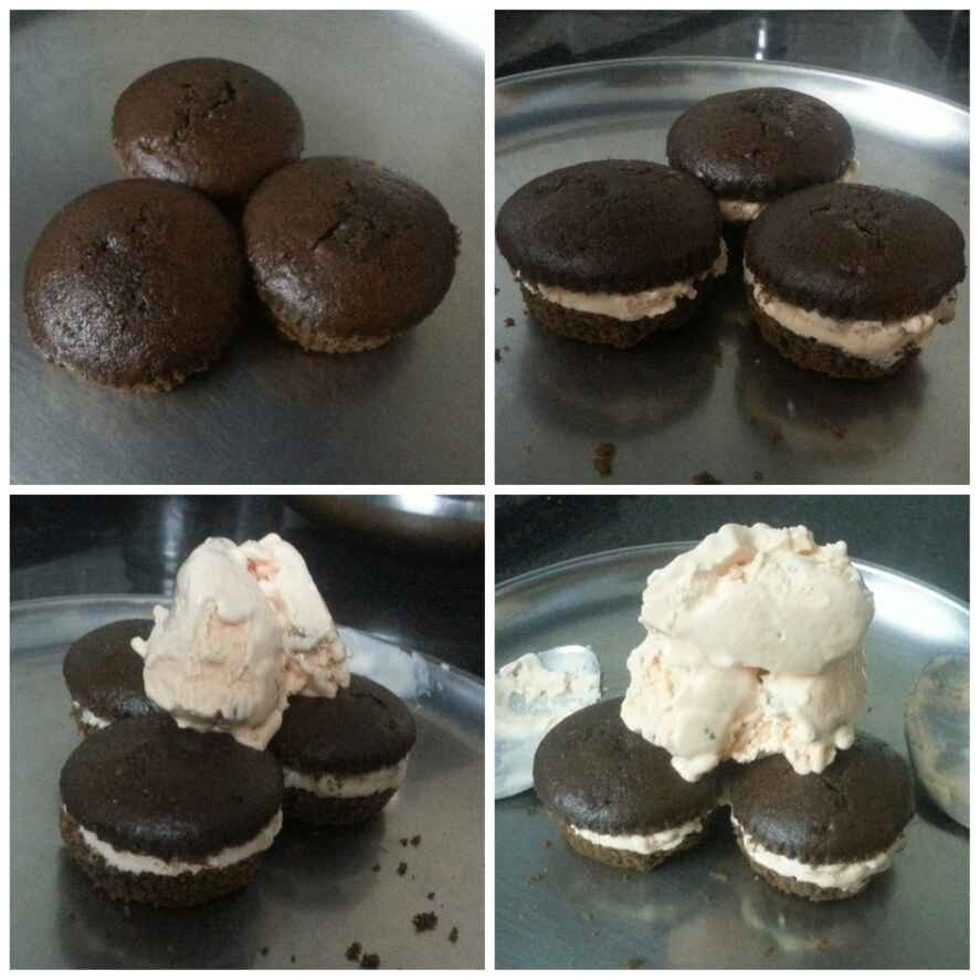 How to make Muffin ice cream sandwiches