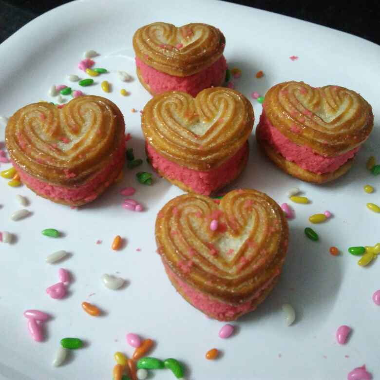 Photo of Stolen Hearts Strawberry Sandesh by DrKhushboo Bansal at BetterButter