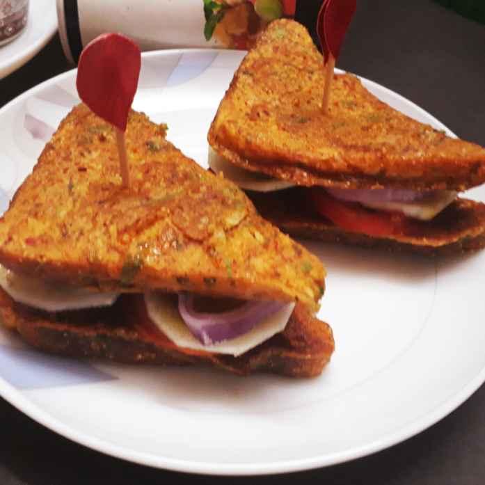 How to make Pudla Sandwich