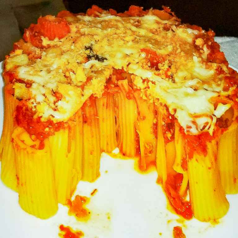Photo of Rigatoni pasta cake by DrNehal Shah at BetterButter