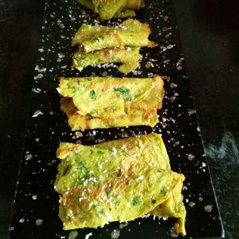 How to make Spinach crepe