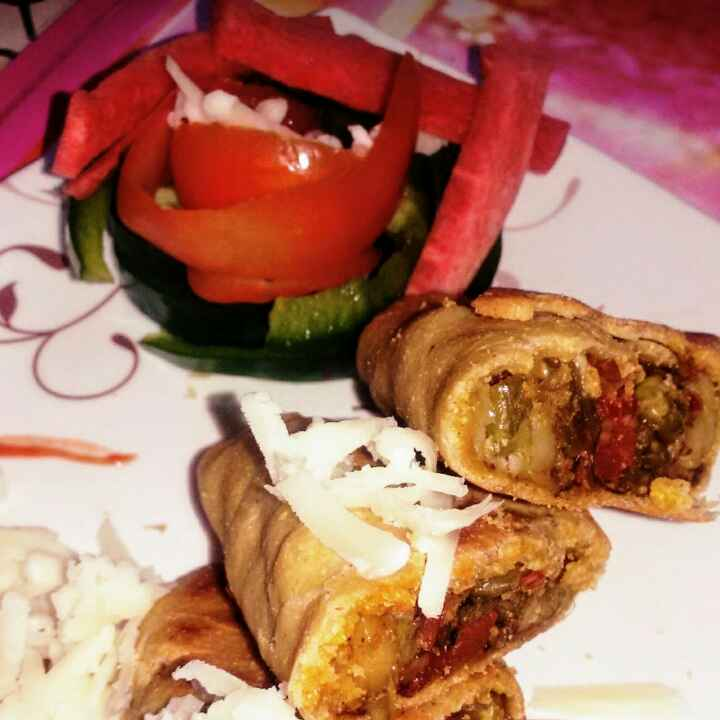 Photo of Baked Maize Chapati Wrap by Durgesh Srivastava at BetterButter