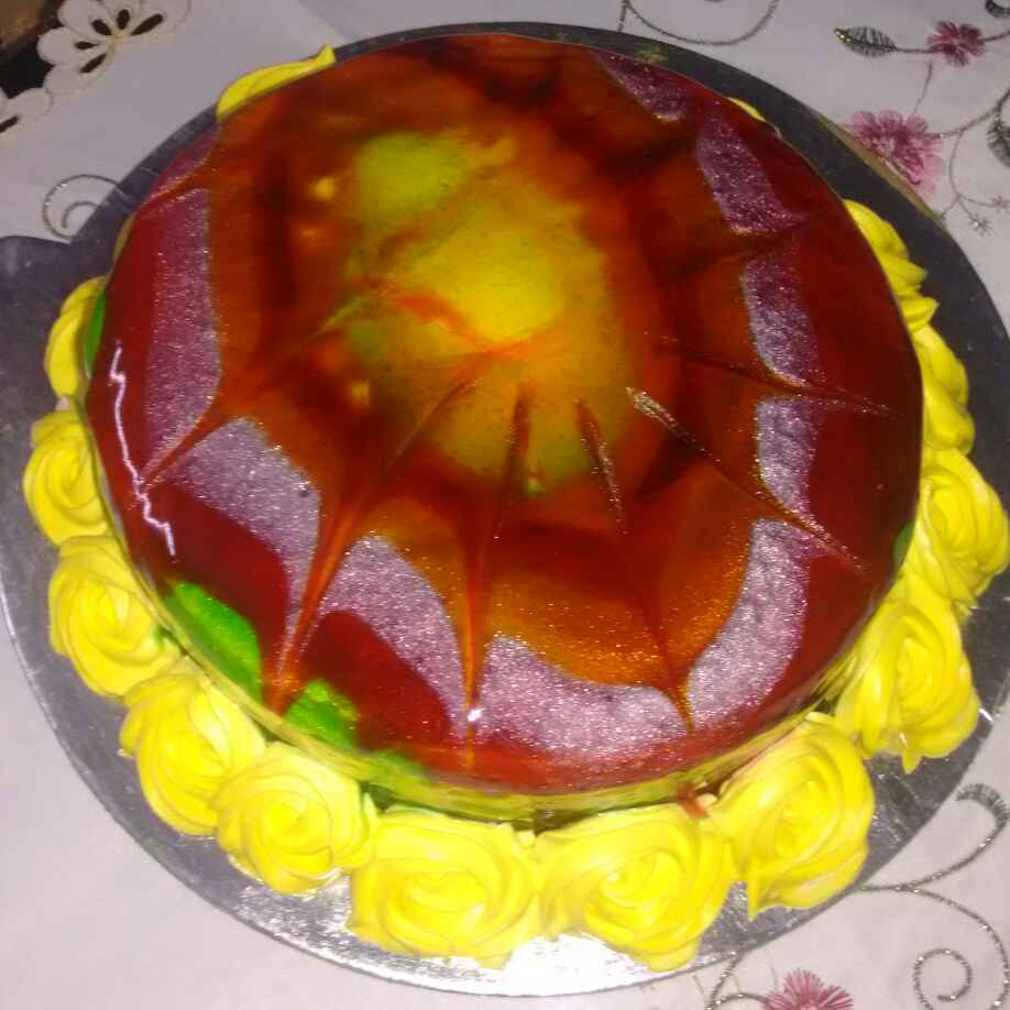 Photo of Fruit cake kiwi filling ke sath by Durgesh Srivastava at BetterButter
