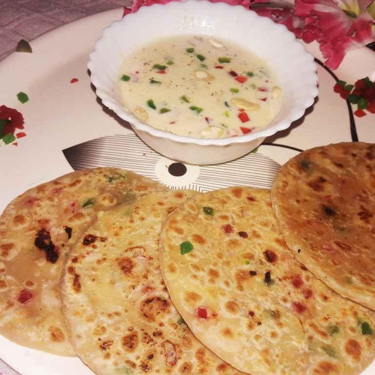 Photo of Special mawa , dryfruits , milk powder mix prantha with mast rabri by Ekta Sharma at BetterButter