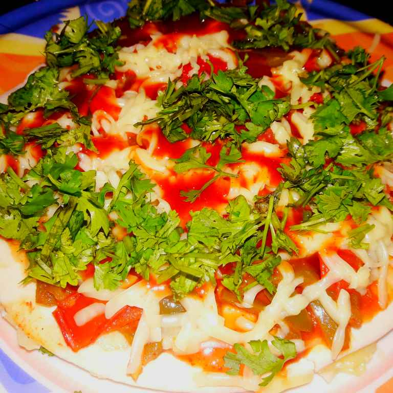How to make Gajar , mix vegetable pizza