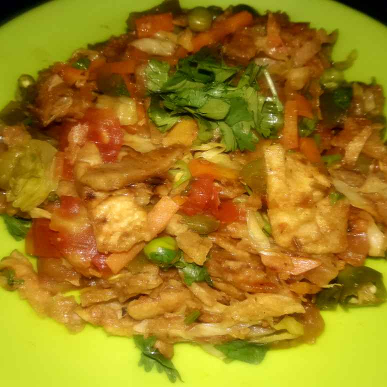 Photo of Mix vegetable chatpati leftover roti fry by Ekta Sharma at BetterButter