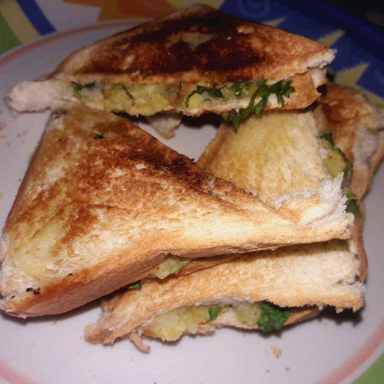 How to make आलू बटर सैंडविच