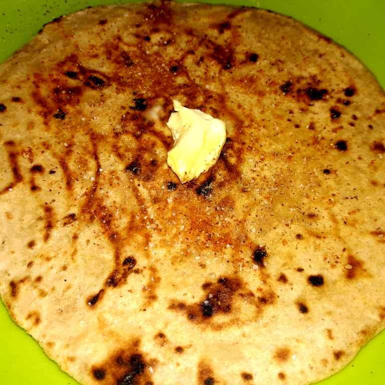 Photo of Roti Papadh Butter Aur Masale Ke Saath by Ekta Sharma at BetterButter