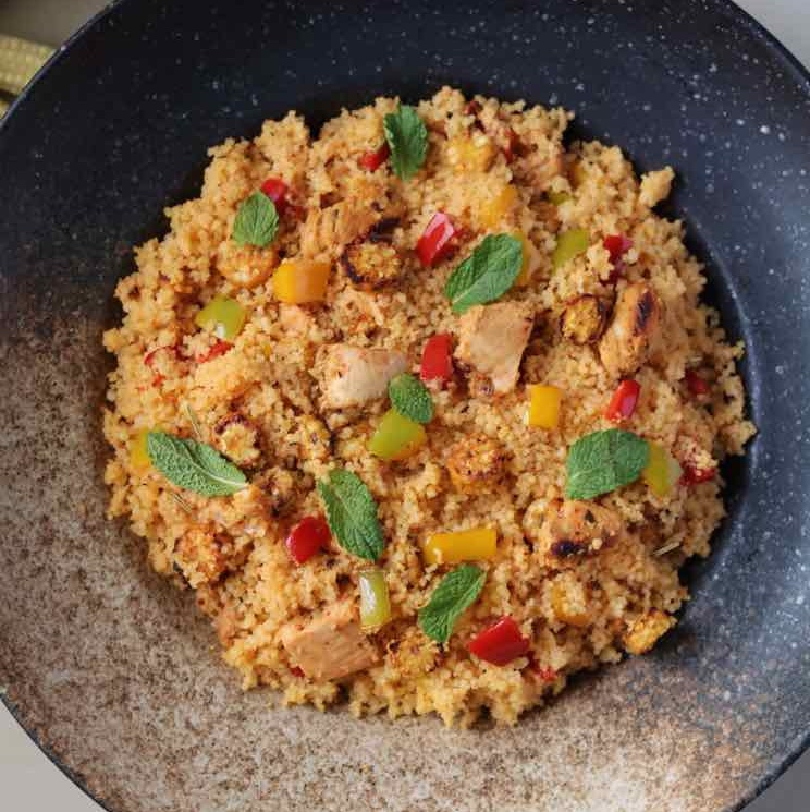 How to make Grilled Chicken and Couscous Salad