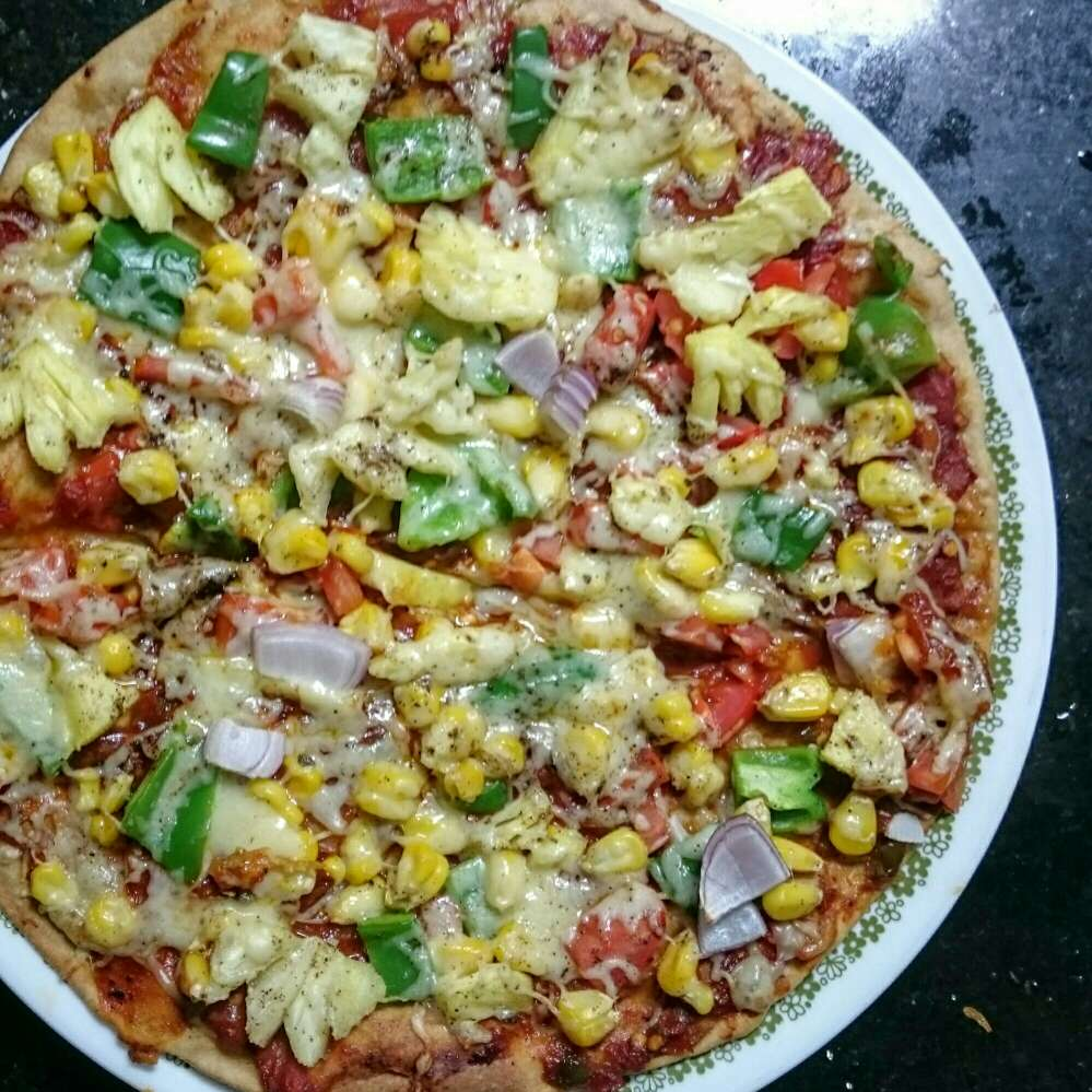 How to make Mix Vegetable Pizza