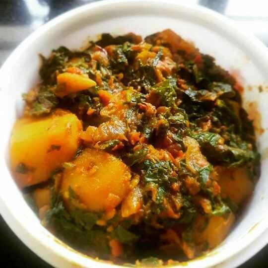 How to make Sweet Potato & Spinach Veggie