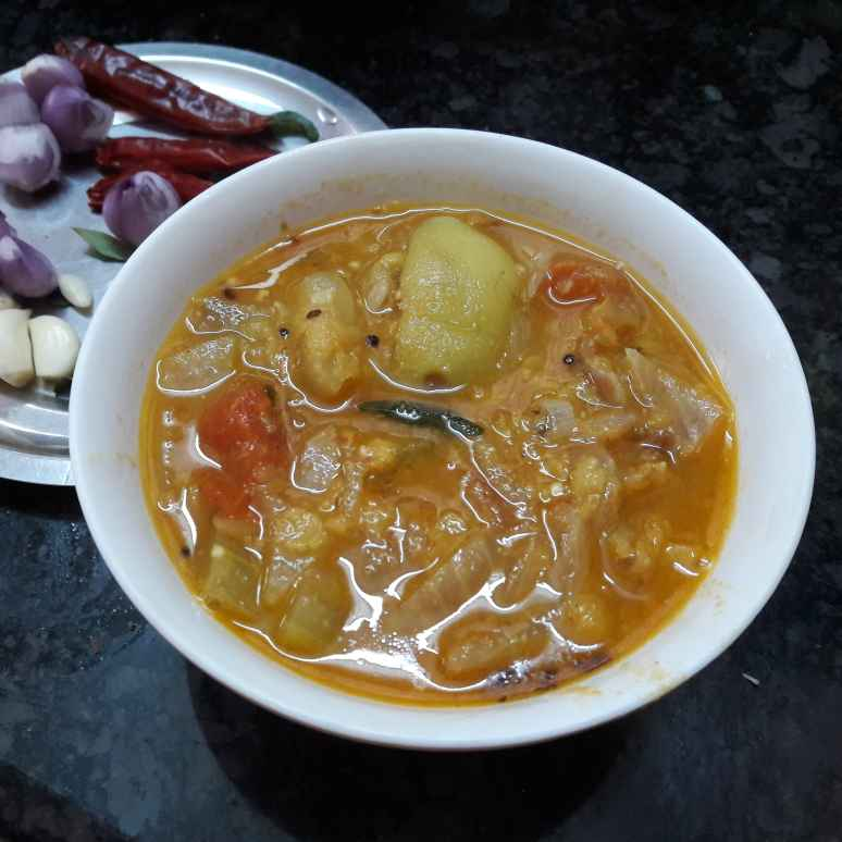 Photo of Bottle gourd Brinjal sambar by Fathima Beevi at BetterButter