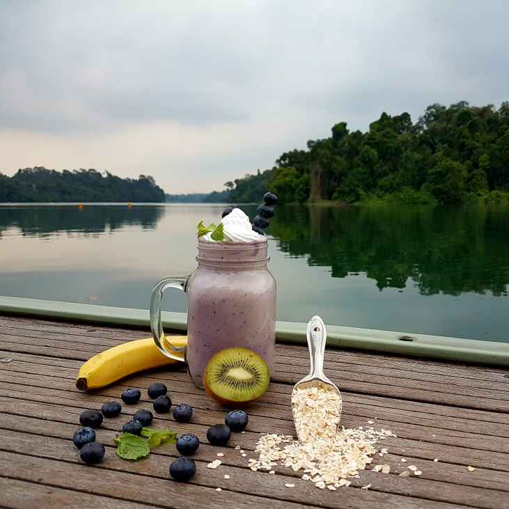 Photo of Blueberry Banana smoothie by fathoom hameed at BetterButter