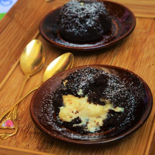 How to make White Chocolate Lava Cake