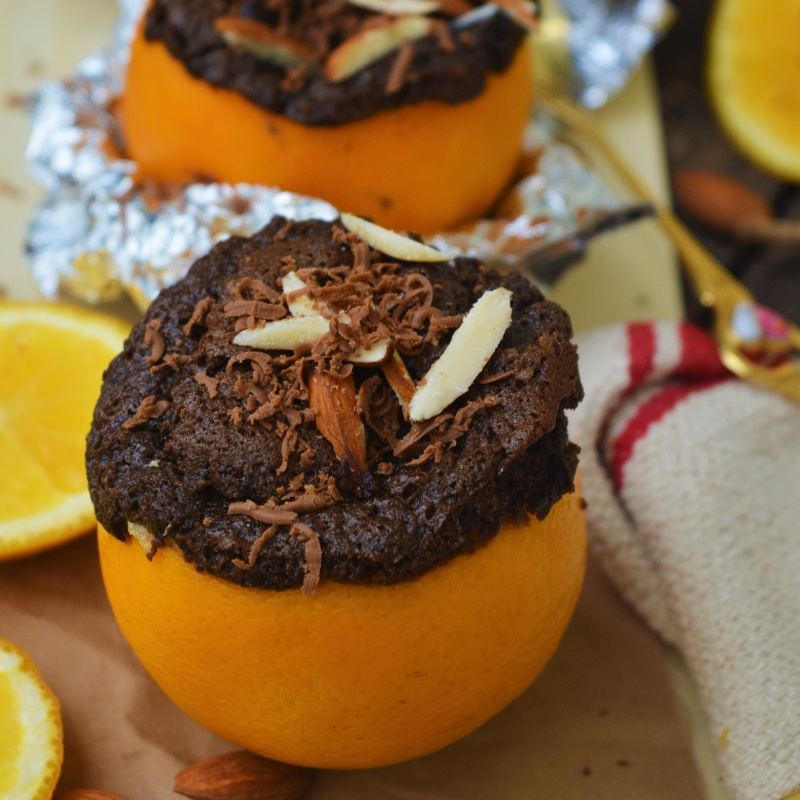 How to make Chocolate Cupcakes in Orange Peels
