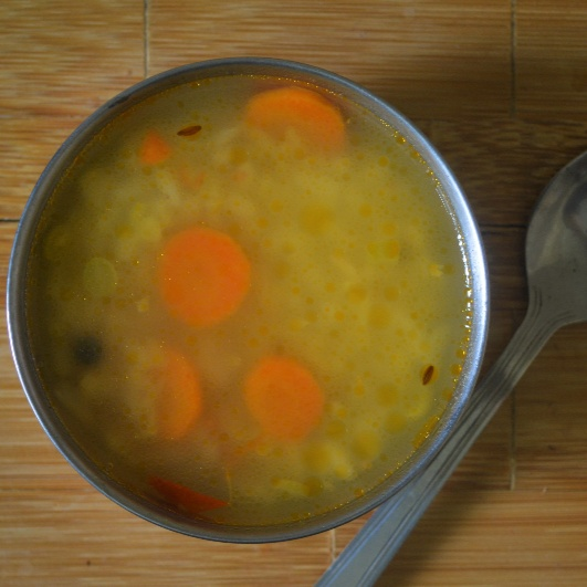 How to make Mixed Vegetable Rice Soup for Babies