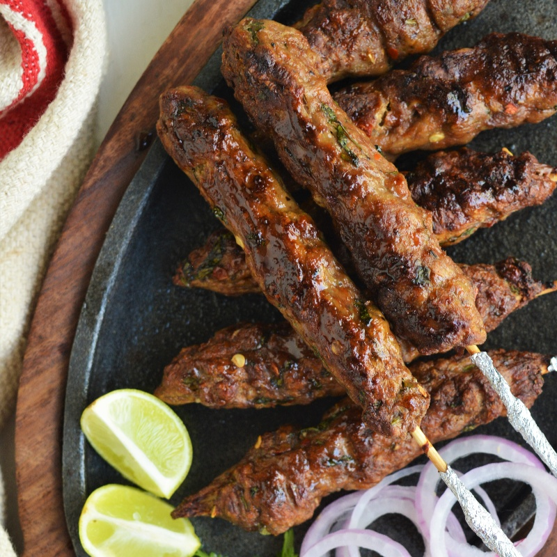 How to make Cajun Spiced Mutton Seekh Kebabs
