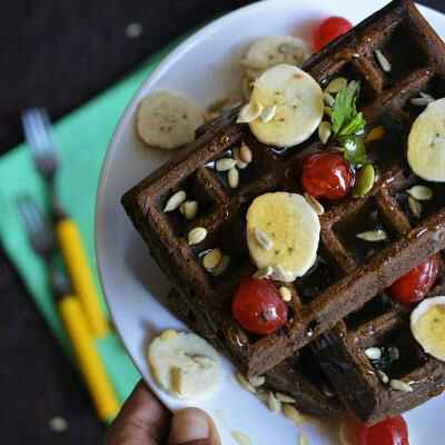 How to make Baked Chocolate Waffles