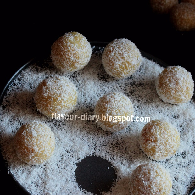 Photo of Coconut Moong Dal Halwa Truffle by Flavour Diary at BetterButter