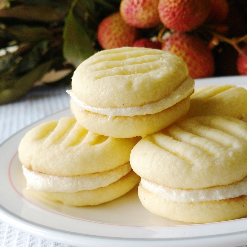 How to make Litchi melting moments
