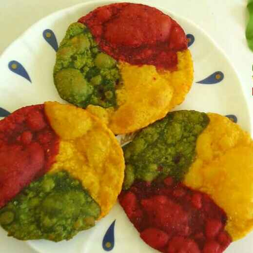 Photo of Tri colour puri by foram Kotak paneri at BetterButter