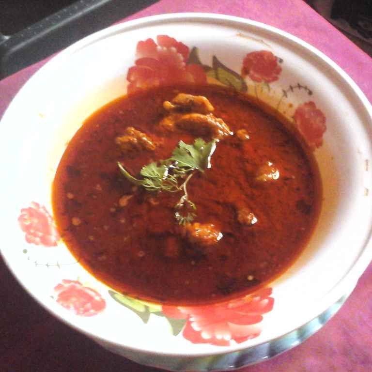 How to make చికెన్ కూర గ్రేవీ తో