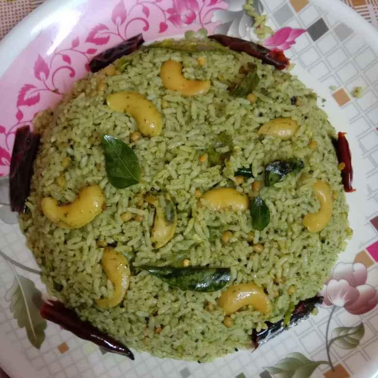 How to make ఆకు కూరల రైస్